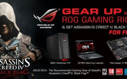 ASUS ROG Launches Assassin's Creed IV: Black Flag Full Game Bundles