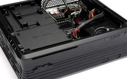 SilverStone Raven RVZ01 Mini-ITX Gaming Case Pictured