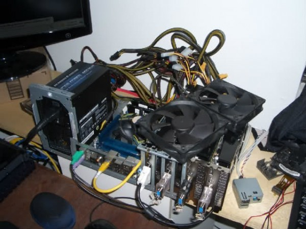 Ghetto Crypto-Currency Mining Rigs