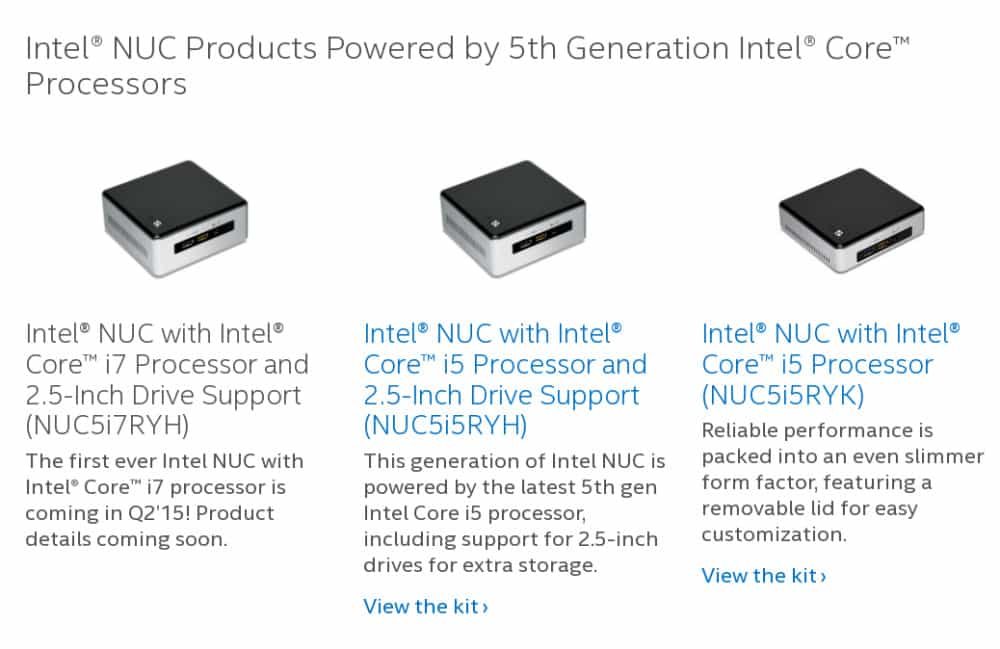 Intel Core i7 NUC