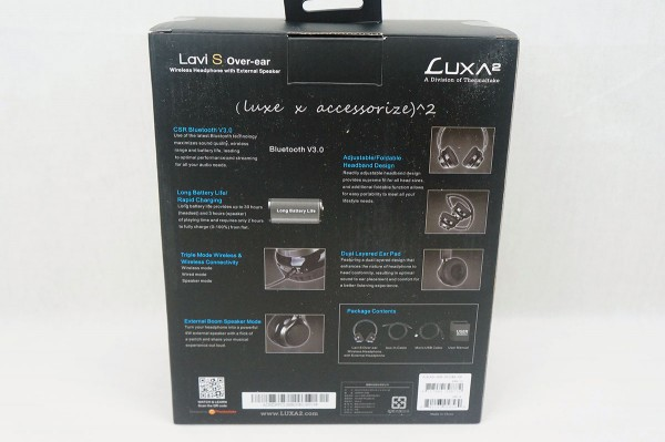 LUXA2 Lavi-S Bluetooth Headphones